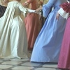 Colourful ladies' frocks