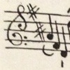 Unusual musical clef